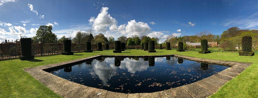 Garden, Pond, Water, Landscaping, Outdoor, Nature, Park