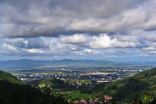 Black Forest, Freiburg, Clouds, Village, Settlement