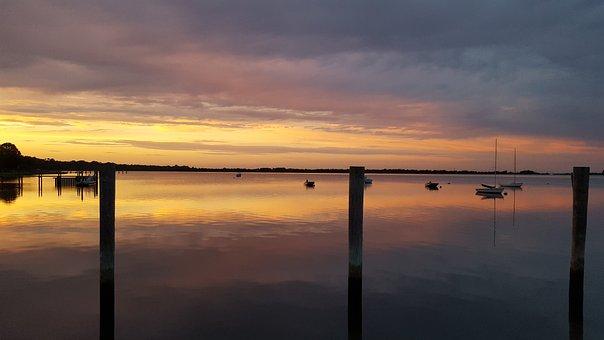 Shelter Island, Long Island, New York, Sunset, Boats