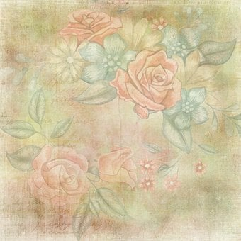 Blank, Background, Template, Flower, Framed
