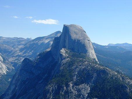 Yosemite, Half Dome, Nature, United States, Landscape