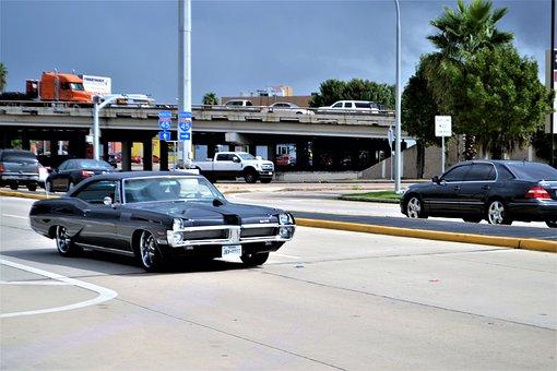 Vintage Roadster Car, Old Black Car, Classic, Vehicle