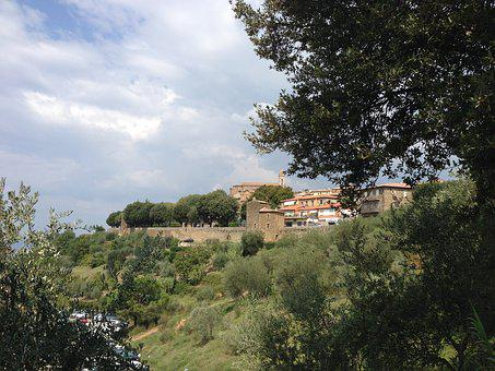 Landscape Was, Viliage Medieval, Wall, Tuscany, Nature