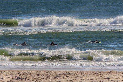 Atlantic Ocean, Atlantic Seaboard, Surf, Surfers