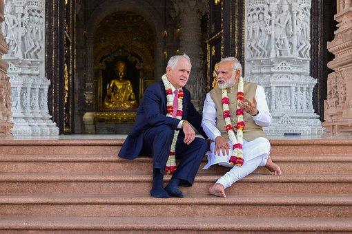Primeminister, Akshardham, India, Australia, Temple
