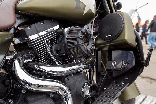 Motorcycle, Crome, Exhaust, Krupnyj Plan