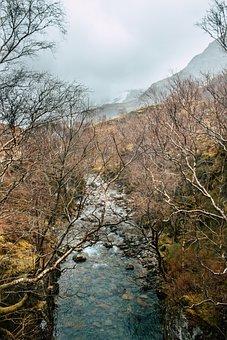 Scotland, Landscape, Karg, Gloomy, Sky