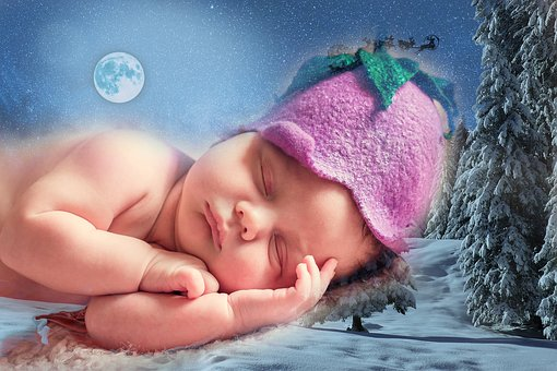 Dreaming, Baby, Christmas, Child, Dream, Happy