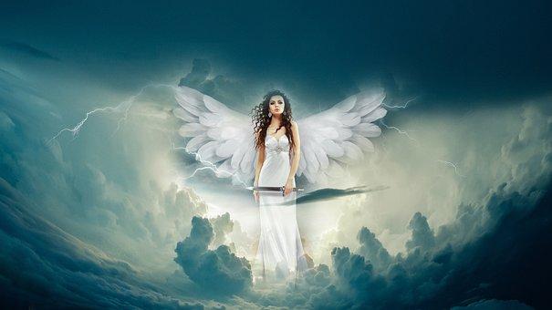 Angel, Clouds, Fantasy, Heaven, Sky, Angelic, Spirit