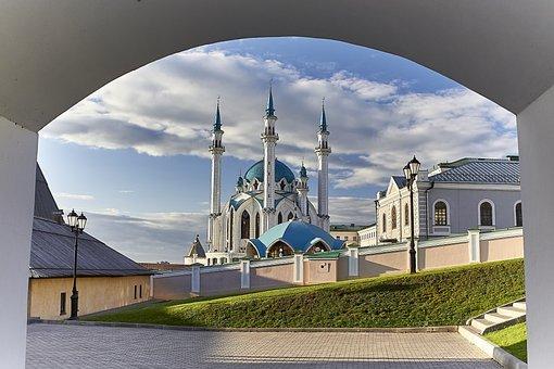 Kazan, Kul-sharif, Mosque, Russia, The Kremlin