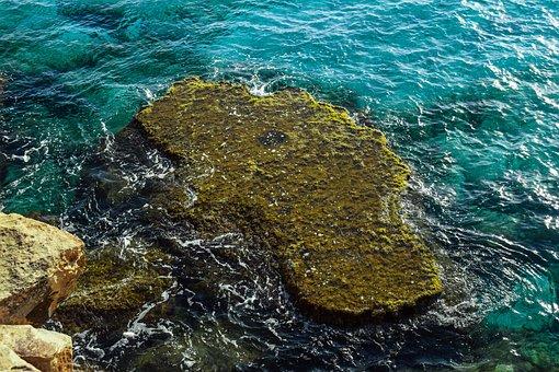 Rock, Reef, Nature, Sea, Water, Blue, Landscape, Coast