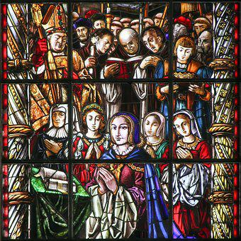 Stained Glass, Monastery, Lisbon, Portugal, Hieronymite