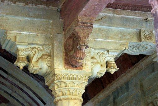 India, Rajastan, Amber, Marquee, Sculpture, Fort