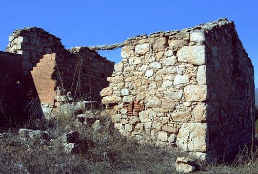 Earthquake, Collapse, Movement, Ruins, Stones, Walls