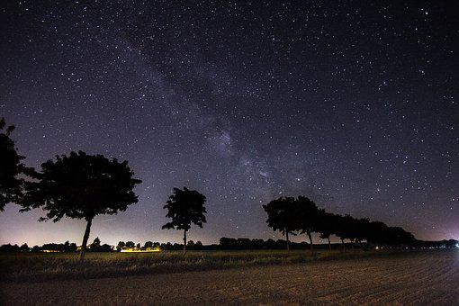 Milky Way, Night, Star, Night Sky, Starry Sky, Sky