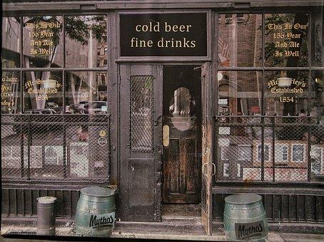 Old, Bar, Reproduction, Wall, Print, Beer, Vintage