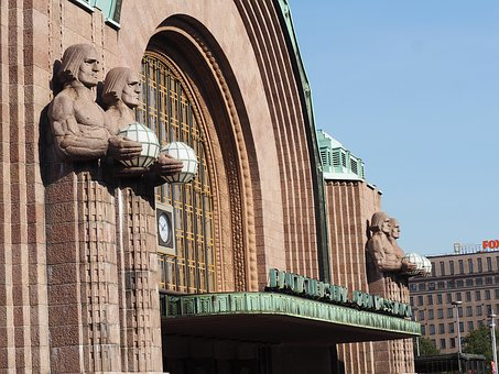 Finland, Helsinki, Railway Station, Places Of Interest
