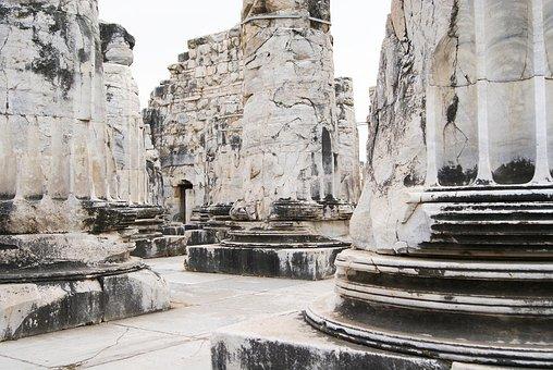 Marble, Columnar, Ruin, Temple, Stone