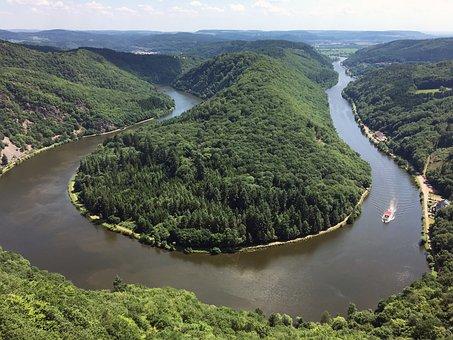 Saar, Saar Loop, Forest, Viewpoint, River Landscape