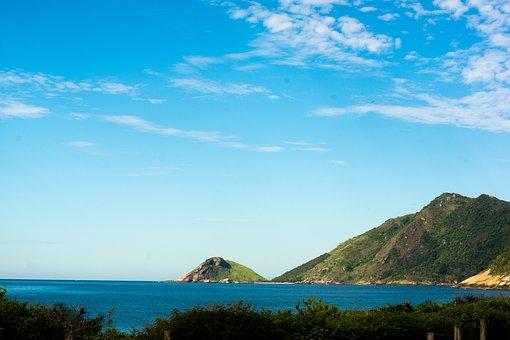 Grumari, Mar, Montanha, Sea, Rio, Brazil, Ocean, Beach