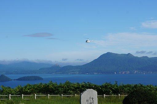 Lake Toya, Summer, Helicopter