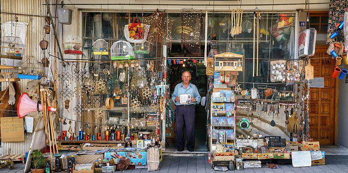 Old, Greek, Shop, Kalambaka, Shop Owner, Unique, Greece