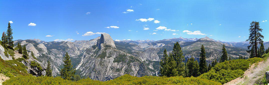 Yosemite, Half Dome, Usa, National Park, California