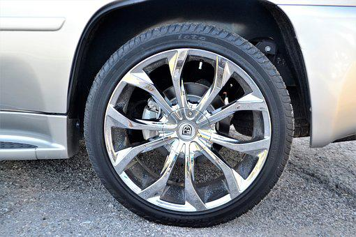 Used, Pre-owned, Cadillac Escalade, Wheel, Tire, Beige