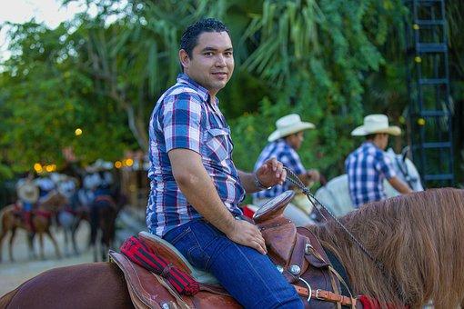 Cowboy, Mexico, Rider, Sombrero, Attraction