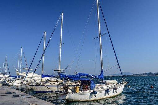 Boats, Sailing Boats, Port, Harbor, Sea, Dock, Town