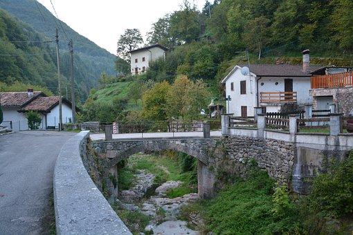 Bridge, Torrent, Mountain, The European Path, E5