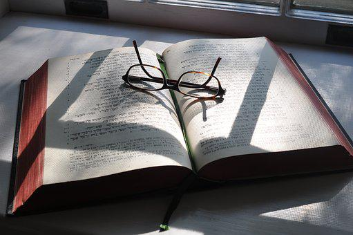 Hebrew, Glasses, Bible, Shadows, Study, Religious