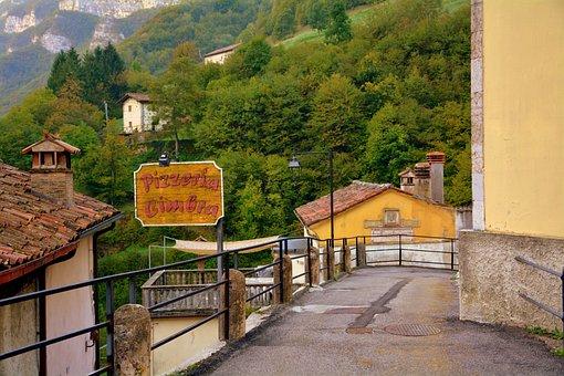 Giazza, Country, Mountain, Houses, Pizzeria