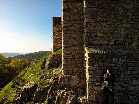 Mountains, A Mountain Range, Castle, Old Castle