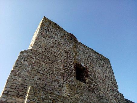 Old Castle, Castle, Sky, Ogrodzieniec, Monument