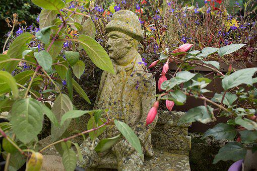 Statue, Garden Statue, Garden Ornament, Man, Old Man