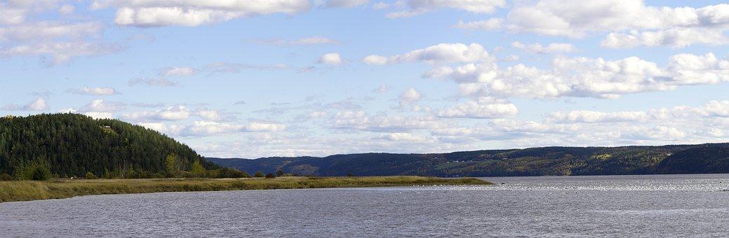 Panorama, Chicoutimi, Saguenay, Quebec, Canada, Fjord
