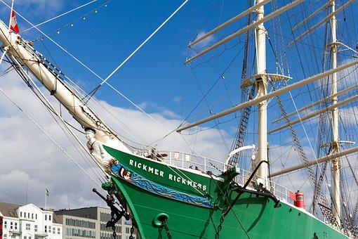 Sailing Vessel, Hamburg, Rickmer, Rickmers, Museum Ship