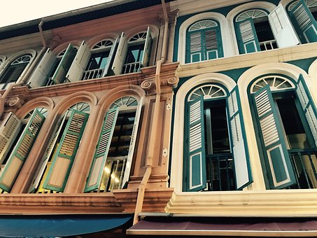 Singapore, Window, Colorful Houses