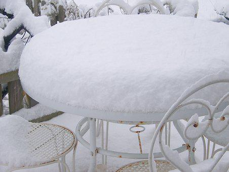 Snow, White, Cold, The Top Of The Table