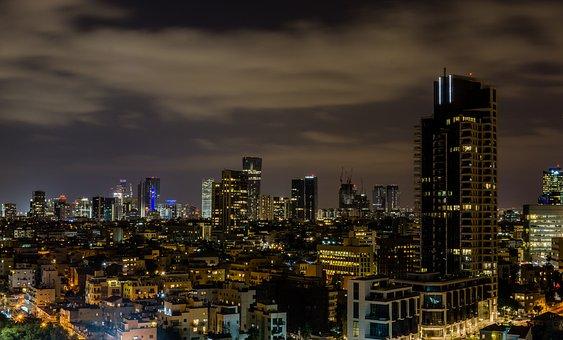 Tel Aviv, Israel, City, Skyline, Cityscape, Summer