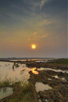 Landscape, Sunrise, Sunset, Nature, Summer, Sun, Sky