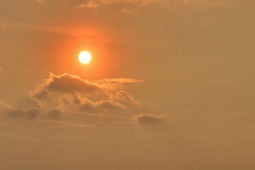 Sunset, Sunrise, Sun, Sky, Afterglow, Water