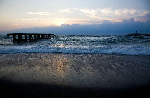 Sunset, Beach, Marine, Turkey, Clouds, Views Of The Sea
