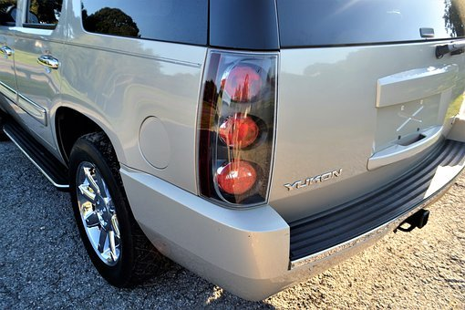 Gmc Yukon Truck, Tail Light, Bumper, Rear, Exterior