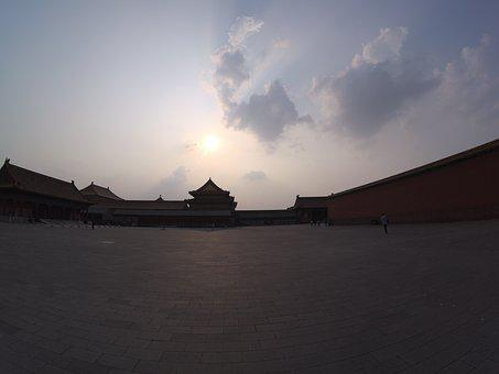 The National Palace Museum, Twilight, China, Building
