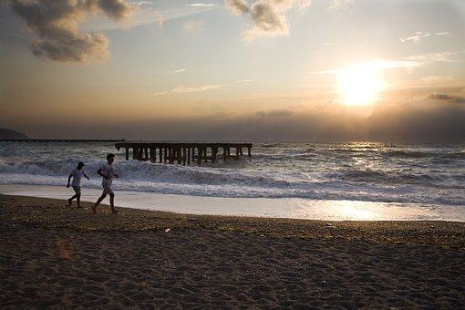 Beach, Sunset, Marine, Silhouette, Turkey, Coastline