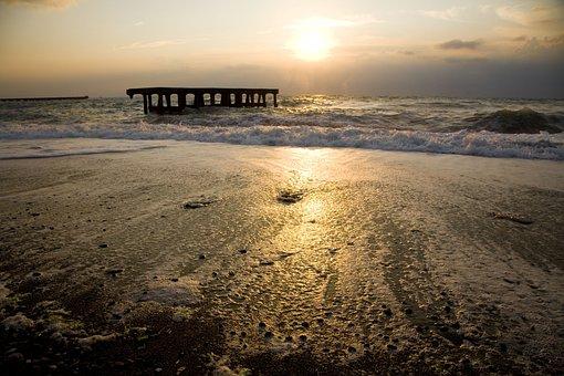 Marine, Beach, Sunset, Sky, Turkey, çaycuma