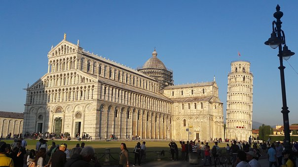 Pisa, Italy, Tuscany, Leaning Tower, Places Of Interest