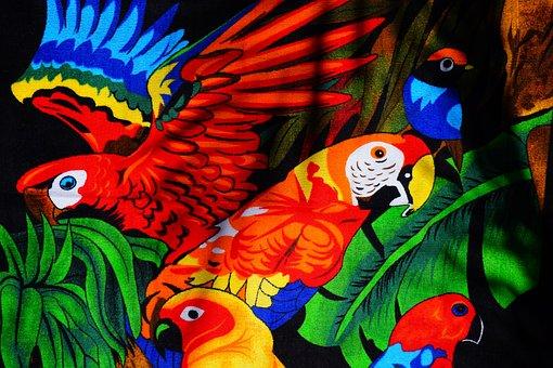 Parrots, Aras, Lori, Parakeet, Birds, Towel, Bath Towel
